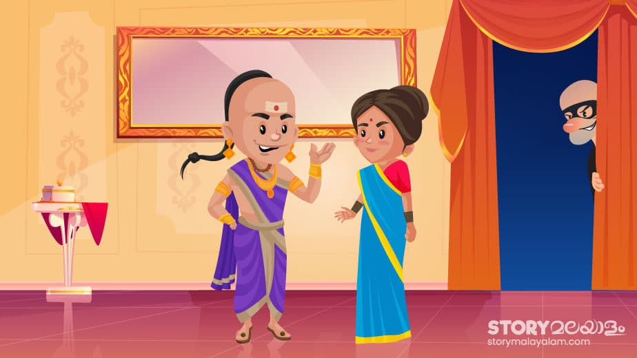 Tenali Raman And The Thieves Kids and students story in Malayalam